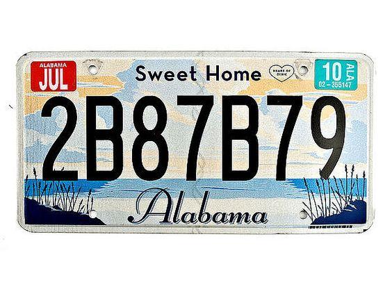 Alabama - original Nummernschild