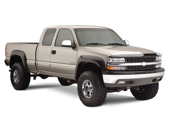 2001 2006 Chevy Silverado 2500hd Bushwacker Extend A Fender Flares Front And Rear Set Chevy Trucks Chevy Silverado Gmc Trucks