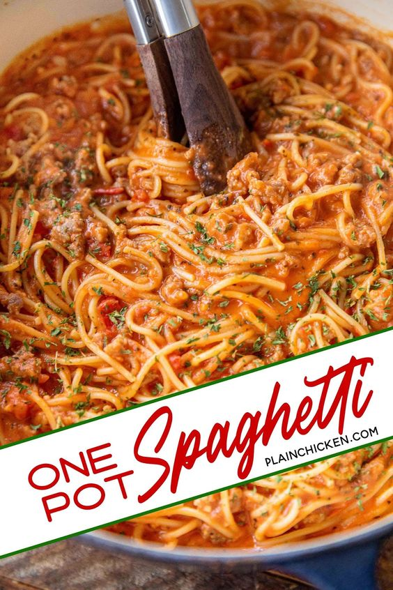 One-Pot Spaghetti {No Boil}