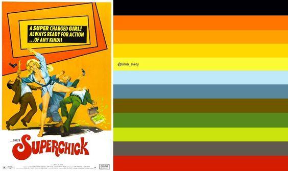1970s Vintage Movie 1972 Poster SUPERCHICK: original image ©Christian Montone via   https://www.flickr.com/photos/christianmontone/5976867668/in/photostream/
