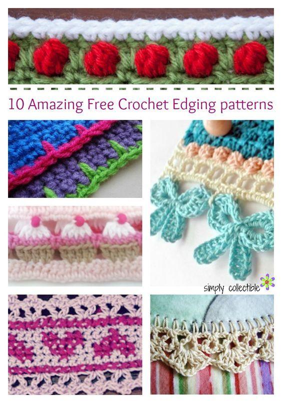 Craft Passions: 0 Amazing Free Crochet Edging patterns# Free # cro...