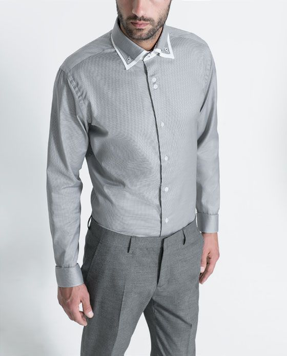MOCK LAYER STRUCTURED SHIRT from Zara (Spring/Summer 2013)