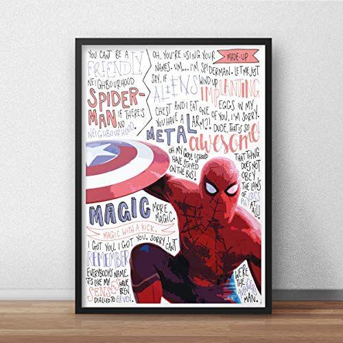 spiderman marvel inspired poster print