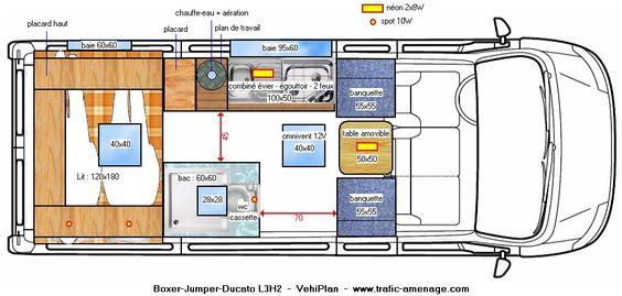 Pinterest le catalogue d 39 id es - Van plan interieur ...