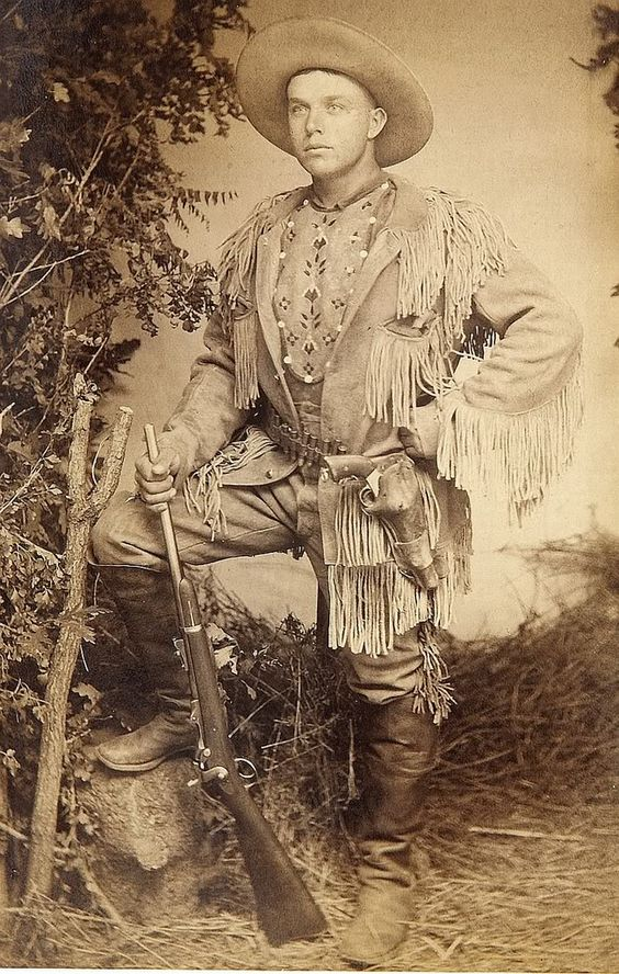 Cabinet Card Photograph of Great Armed Scout from Colorado 1880s