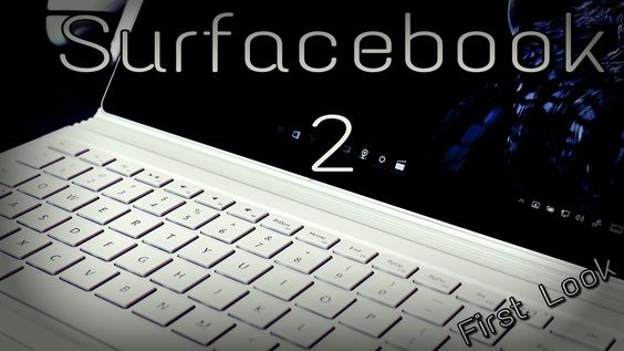 My hands on and first look at the new Surfacebook!