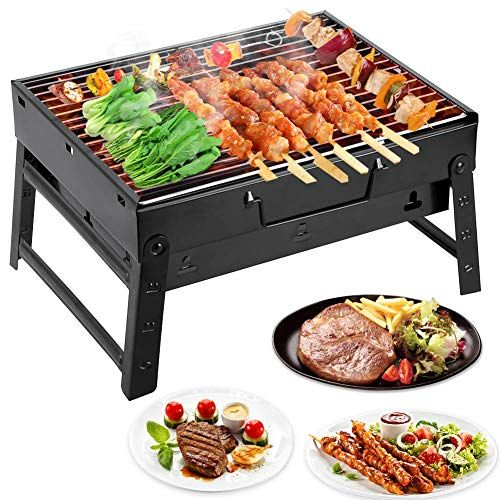 Relaxdays Petit barbecue de camping, 4 personnes barbecue