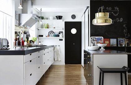 White & open shelves