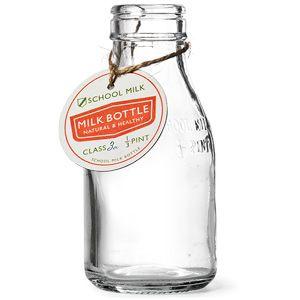 Traditional School Milk Bottle 7oz / 200ml | Glass Bottles Mini Milk Bottles - Buy at drinkstuff