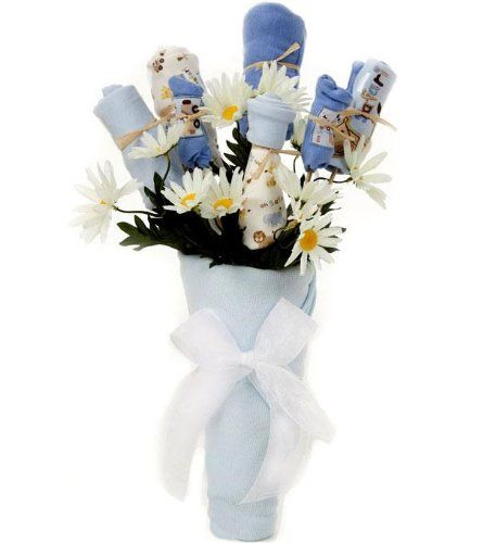 New Baby Floral Gift Ideas : Flower arrangements unique baby and receiving blankets on