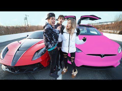 I Raced My Girlfriend For 10 000 Tesla Vs Ferrari Youtube Me As A Girlfriend Ferrari Racing