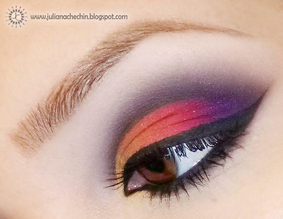 Mil faces: Tutorial de maquiagem colorida com a paleta de 88 cores matte