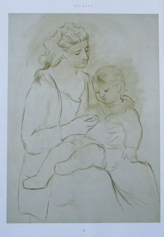 Pablo Picasso MUTTERSCHAFT - EVOKATION CASAGEMAS BEGRÄBNIS 2 Kunstdrucke