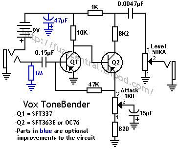 vox tonebender circuits pinterest. Black Bedroom Furniture Sets. Home Design Ideas