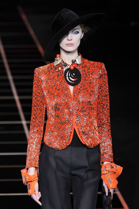 Giorgio Armani at Milan Fashion Week Fall 2012 - StyleBistro