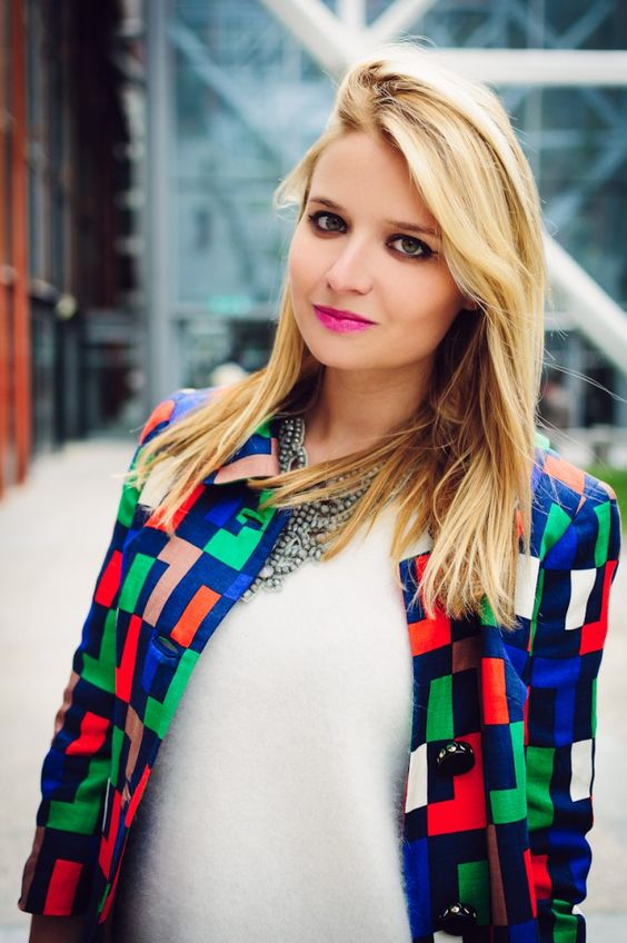 Veronica from The Fashion Fruit wearing a Hoss Intropia necklace
