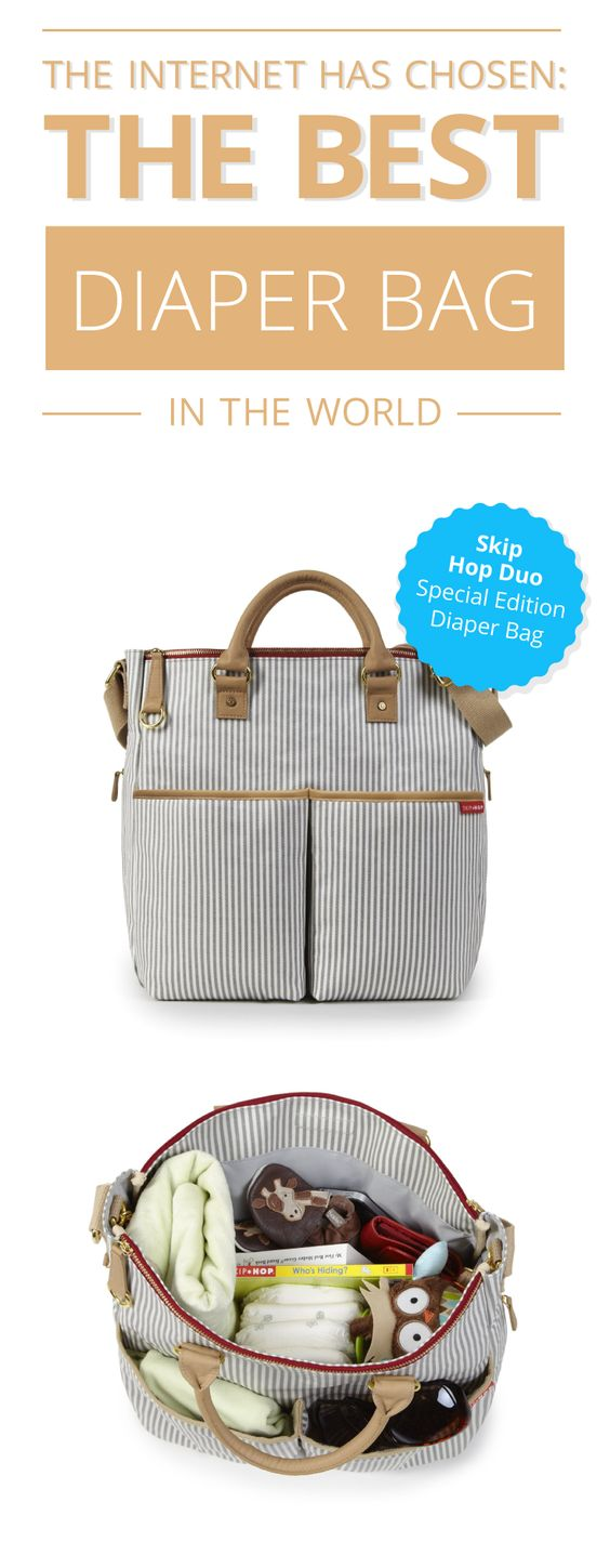 Now you can take the baby out on the town and still look stylish with this Skip Hop Duo diaper bag. Momma's got some brand new (diaper) swag! #babies www.comparaboo.com