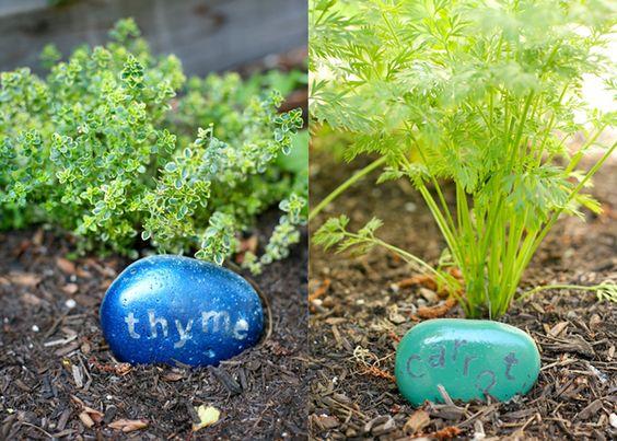 Herb & Vegetable Garden Rock Labels DIY- my.life.at.playtime.