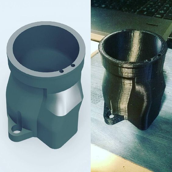 Keihin FCR carb adaptor design and print #3dprinting #3dprinter #reprap #technology #cad #engineering #makeraddictz #design by 3d_folkes_printing
