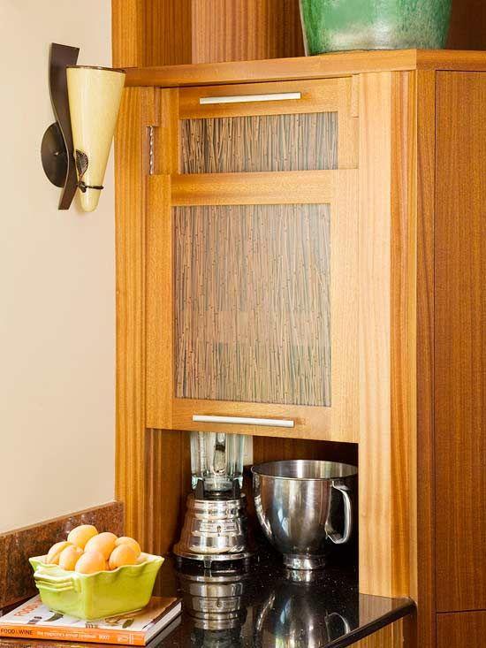 Appliance garage appliances and garage on pinterest for Garage door style kitchen window