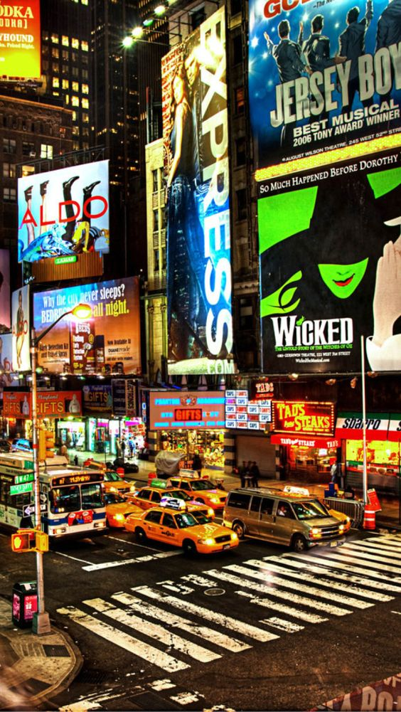 Broadway broadway nyc and new york city on pinterest for Stuff to do in nyc at night