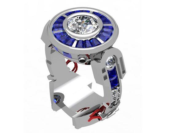 Un anillo de compromiso de R2-D2
