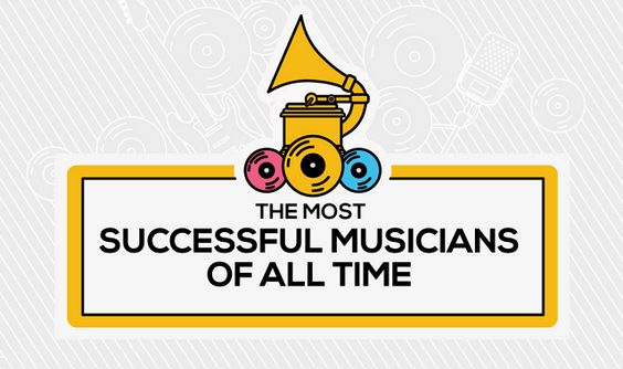 The Most Successful Musicians of All Time #Infographic