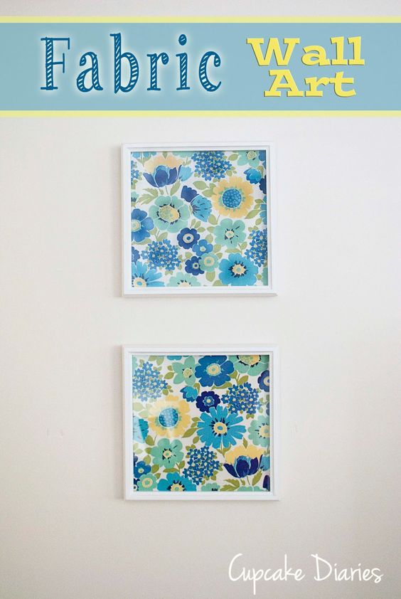 Diy fabric wall art fabric walls fabric wall art and for Fabric wall art