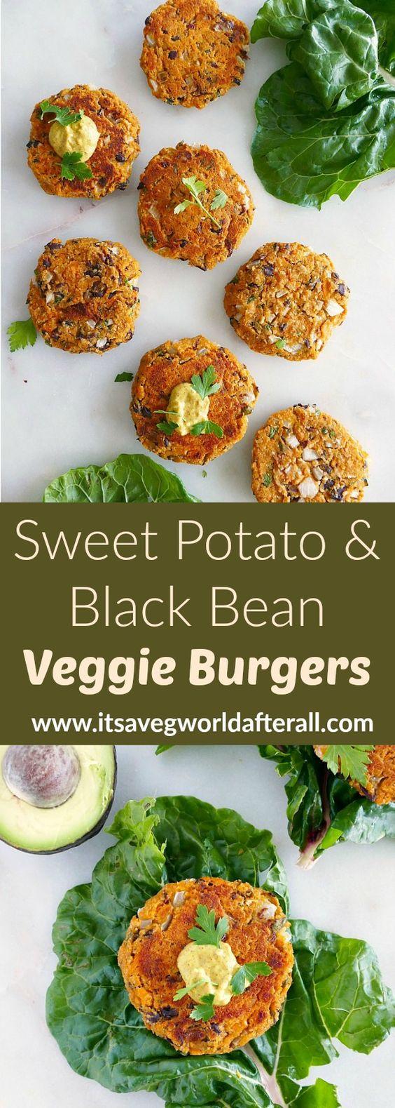 Sweet Potato and Black Bean Burgers