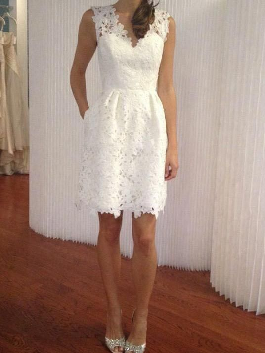 Pin By Newoutfit On 8 6 21 In 2020 Simple Wedding Dress Short Short Wedding Dress V Neck Wedding Dress