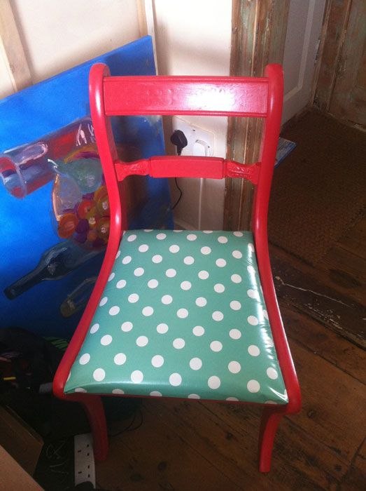 up-cycled chair. DIY post. #EarthDay