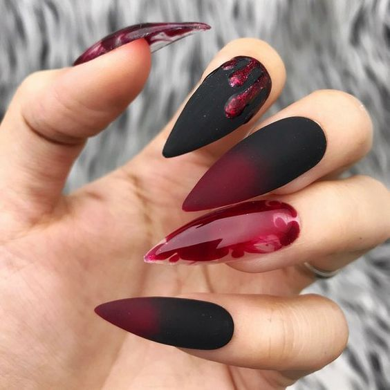 Gel Nail Designs Halloween Stiletto Nails Designs Glue On Nails Gorgeous Nails