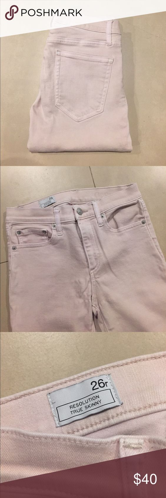 GAP jeans GAP light pink Resolution True Skinny jeans. Best condition I just don't wear them often enough! GAP Jeans Skinny