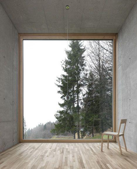 Haus Rüscher / OLKRÜF cor de madeira para os quartos