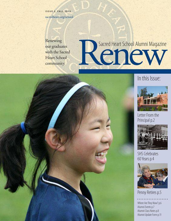 Alumni Magazine for Sacred Heart School