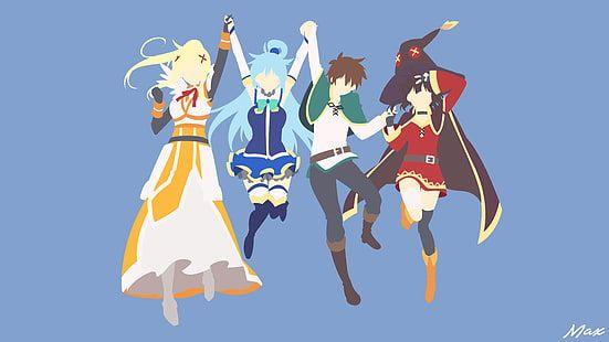 Kono Subarashii Sekai Ni Shukufuku Wo Satō Kazuma Kono Subarashii Sekai Ni Shukufuku Wo Aqua Konosuba Megumin Darkne Minimal Wallpaper Anime Shows Anime