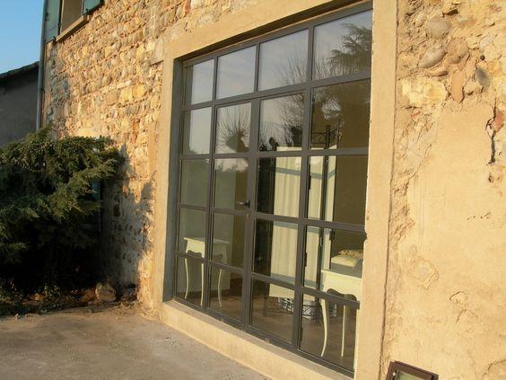 Porte fenêtre en acier de marque Jansen fabrique par la société Ponson