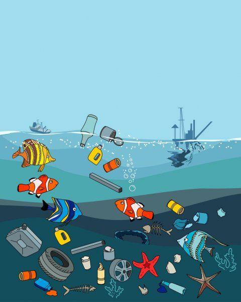 Inquinamento Delle Acque Nell Oceano Rifiuti E Rifiuti Morte Dei Pesci Concetto Di Eco Trong 2020 Mỹ Thuật Y Tưởng Vẽ Moi Trường