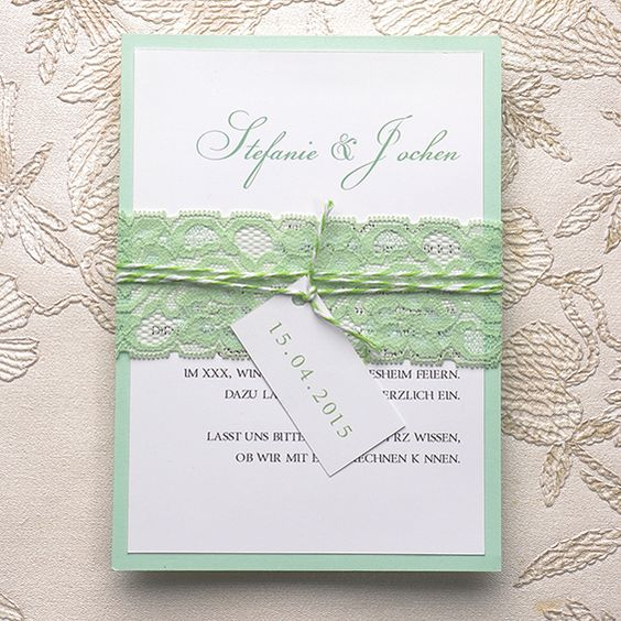 Neue Einladungskarten für Hochzeit 2015 sind jetzt beim Onlineshop verfügbar! | Hochzeitsblog Optimalkarten #weddinginvitations #mint