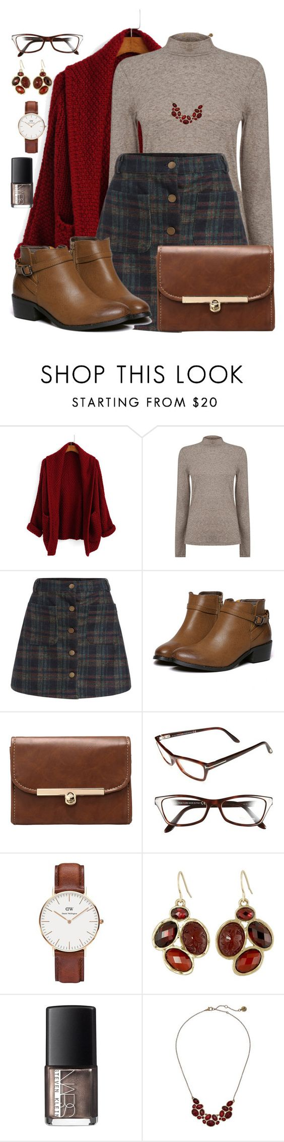 """11 November 2015: Skool Krush"" by edwardsboysmom ❤ liked on Polyvore featuring Warehouse, Tom Ford, Daniel Wellington, The Sak and NARS Cosmetics"