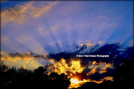"""http://www.followthatdreamphotography.com  """"Sunrise""""  Picture All art comes with a matting of your choice of black or white and a protective cover and signed.If no color is chosen for the matting one will chosen for you.Email me for different sizes. 8x10 (fits an 11x14 frame)$30 + shipping(shipping rates depends on location,email for info)"""