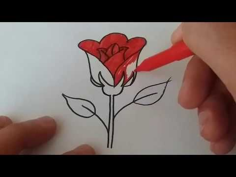 Cok Kolay Adim Adim Gul Cizimi Rose Drawing Youtube Doodle Drawings Roses Drawing Drawing Scenery
