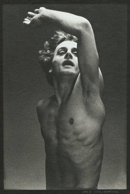 A young Baryshnikov in the ballet, Le Jeune Homme et la Mort. Photo by Max Waldman.