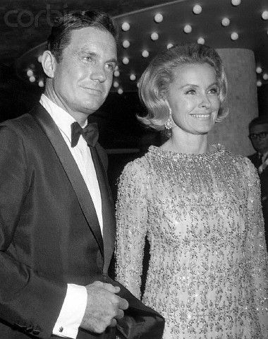 Cliff Robertson and Dina Merrill