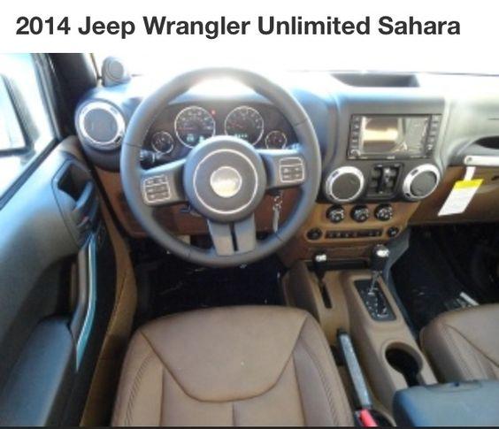 My 2014 Jeep Wrangler Unlimited Sahara With Dark Saddle Leather Interior