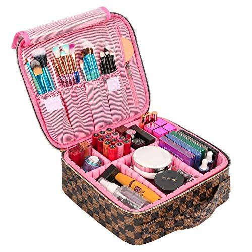 Ssscase Travel Makeup Bag Cute Cosmetic Case Professional Train Case Large Make Up Box Storage Organizer With Br Makeup Bags Travel Cute Makeup Bags Makeup Bag