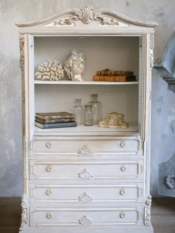 isn't this beautiful french armoire caning | ... French Vintage Chic Petite Blue Armoire with Cane Doors Louis SHABBY
