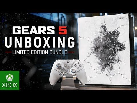 Unboxing The Xbox One X Gears 5 Limited Edition Bundle Xbox One Xbox Unboxing