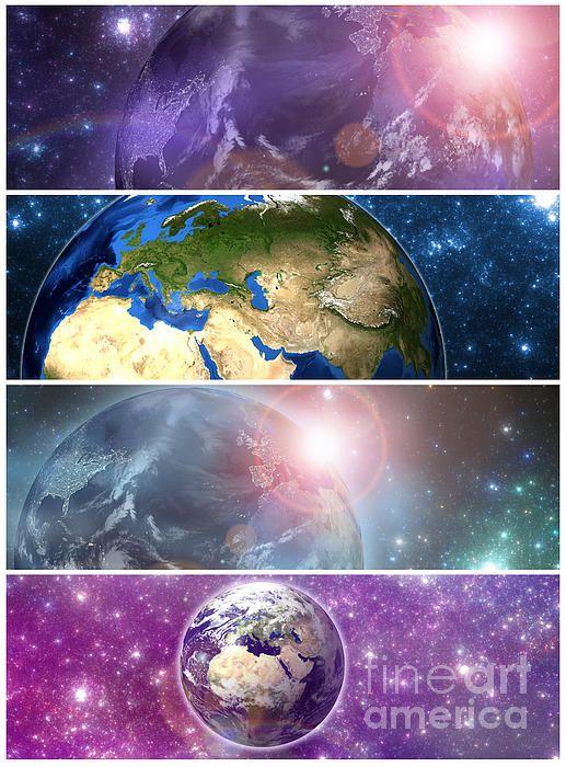 Earth Banners #Earth #space #nasa #art #science