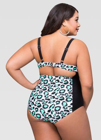 Cheetah Underwire One Piece Swimsuit Cheetah Underwire One Piece Swimsuit